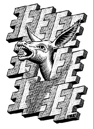 A donkey - M.C. Escher