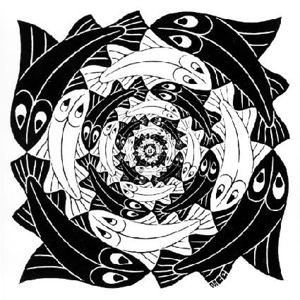 Circular Fish - M.C. Escher