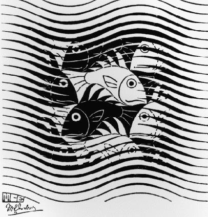 Fishes in Waves - M.C. Escher