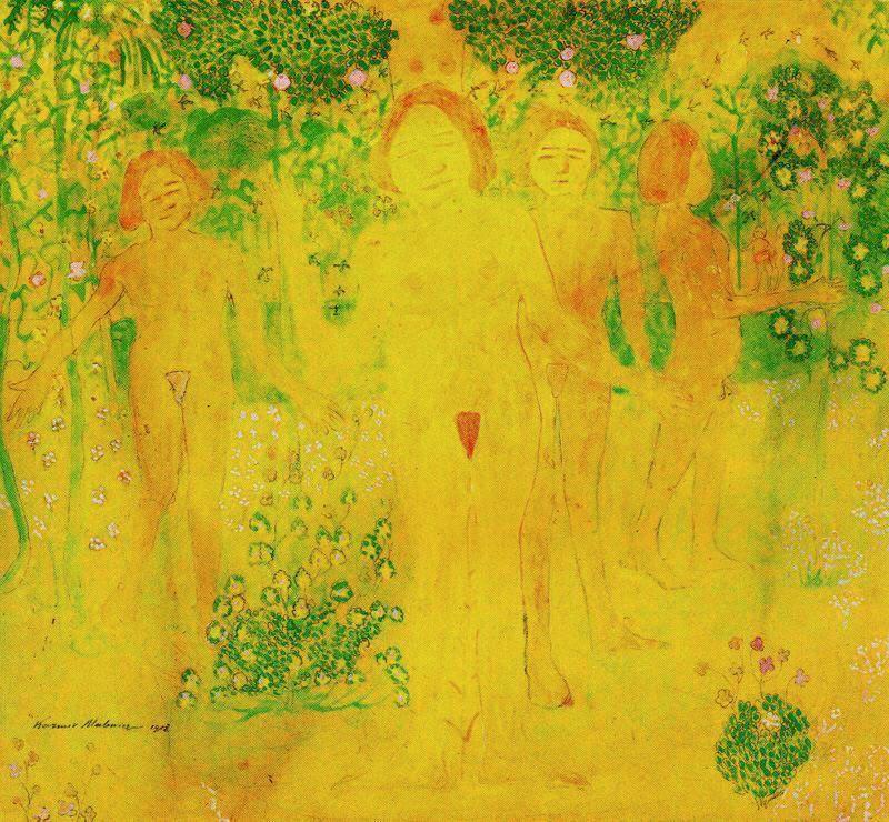 Woman picking flowers - Kazimir Malevich