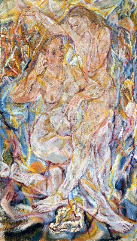 Double Nude: Two Women  - Oskar Kokoschka
