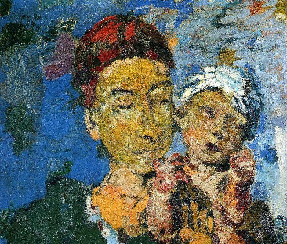 Mother and Child - Oskar Kokoschka