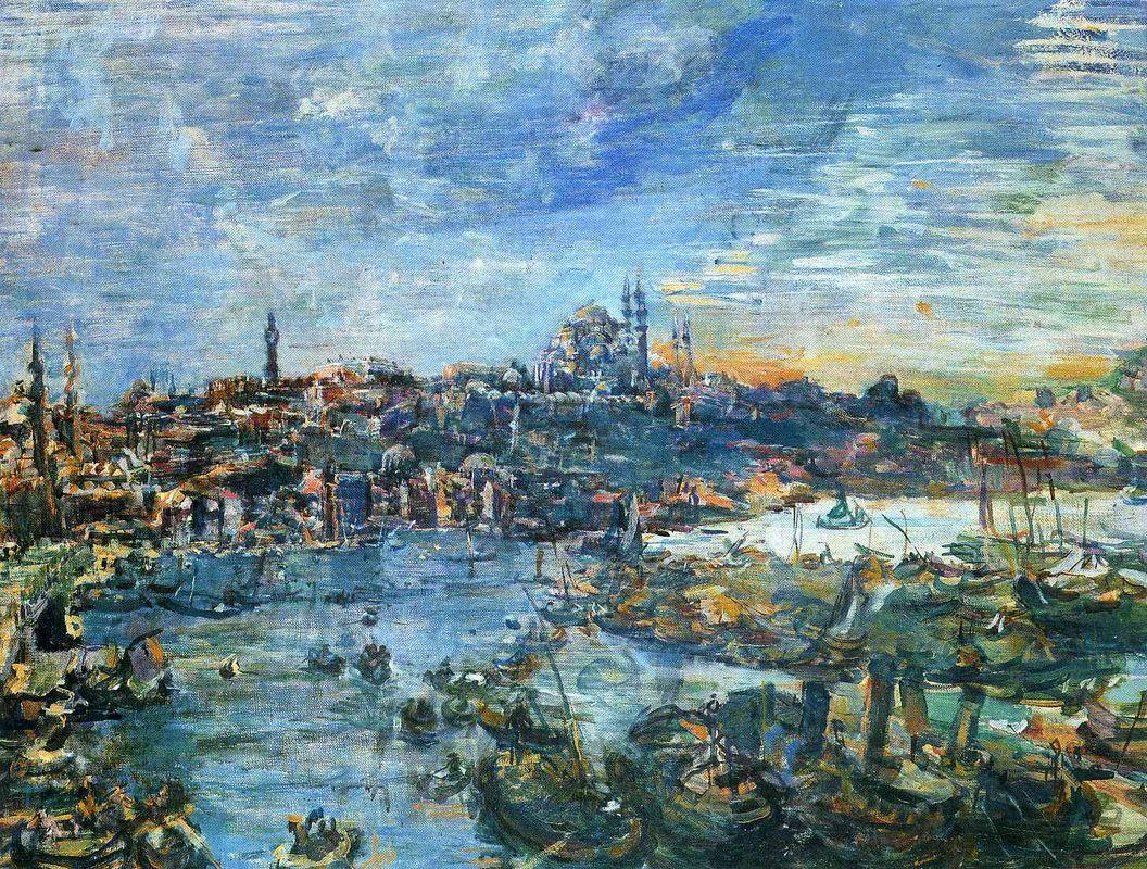 View of Constantinople - Oskar Kokoschka
