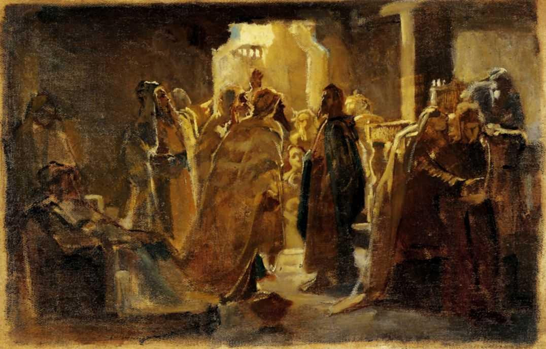Christ in the synagogue - Nikolai Ge