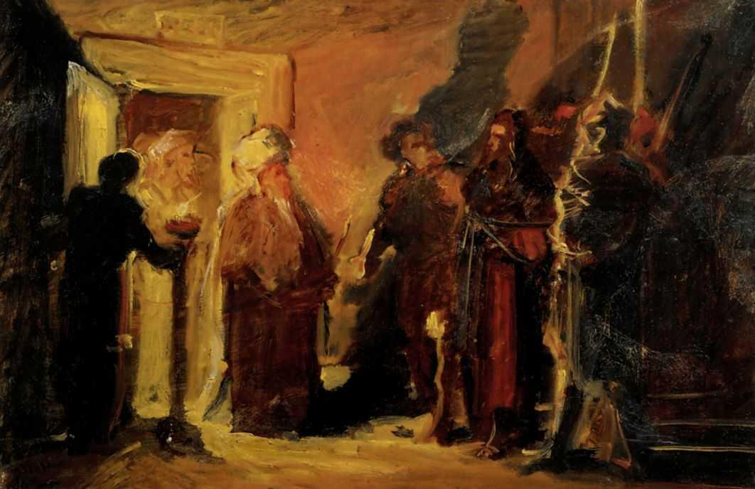 Christ in front of Annas - Nikolai Ge