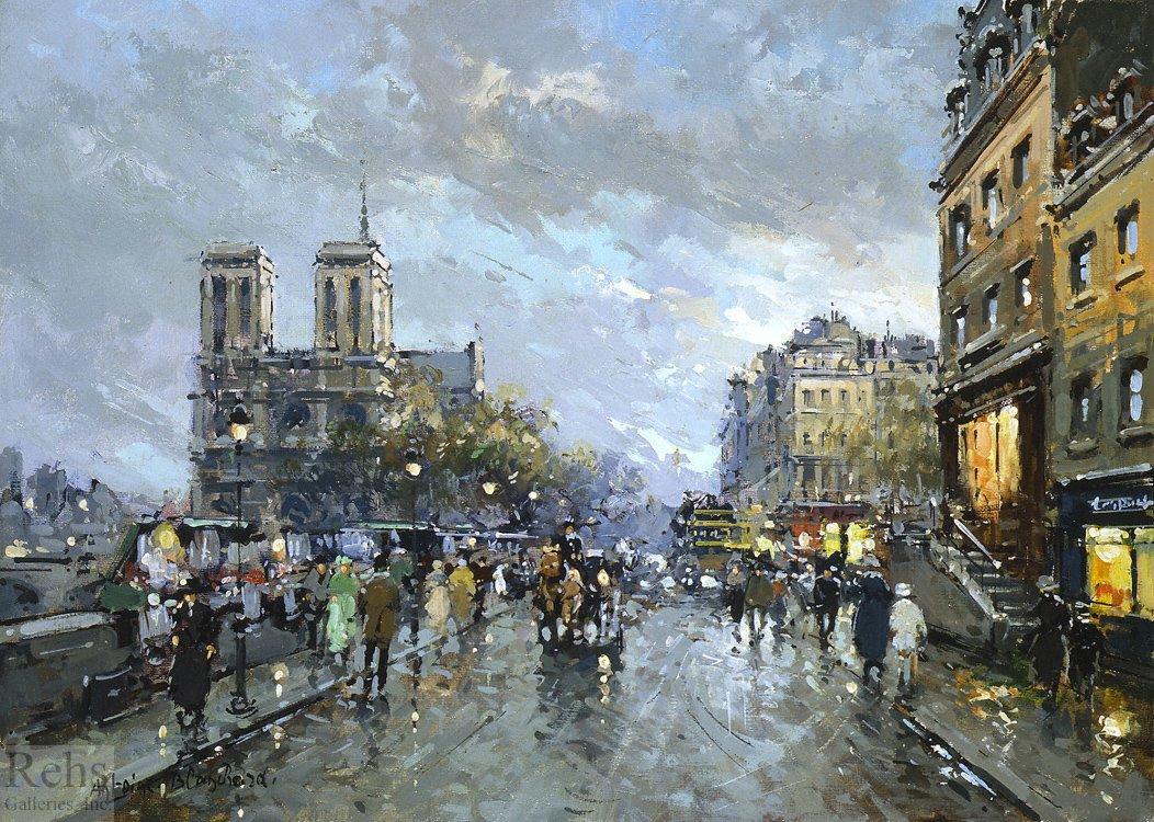 Notre Dame Quai Saint Michel - Antoine Blanchard