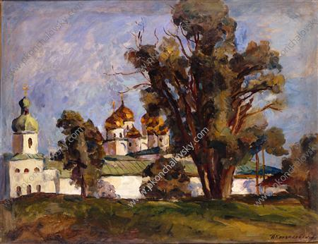 Novgorod. St. George's Monastery. - Pyotr Konchalovsky