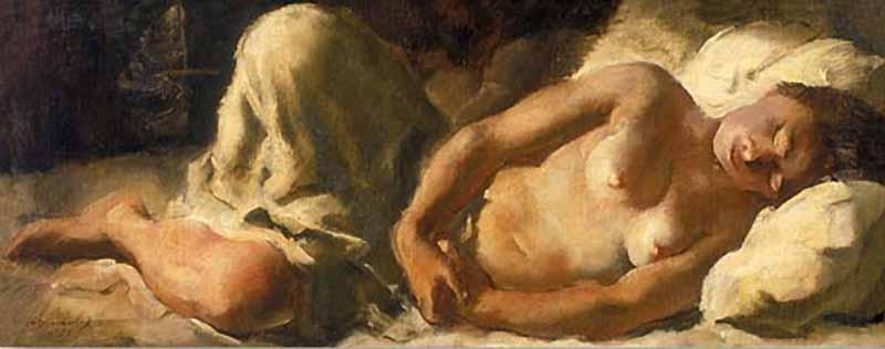 Nu sleeping  - Alexandre Jacovleff