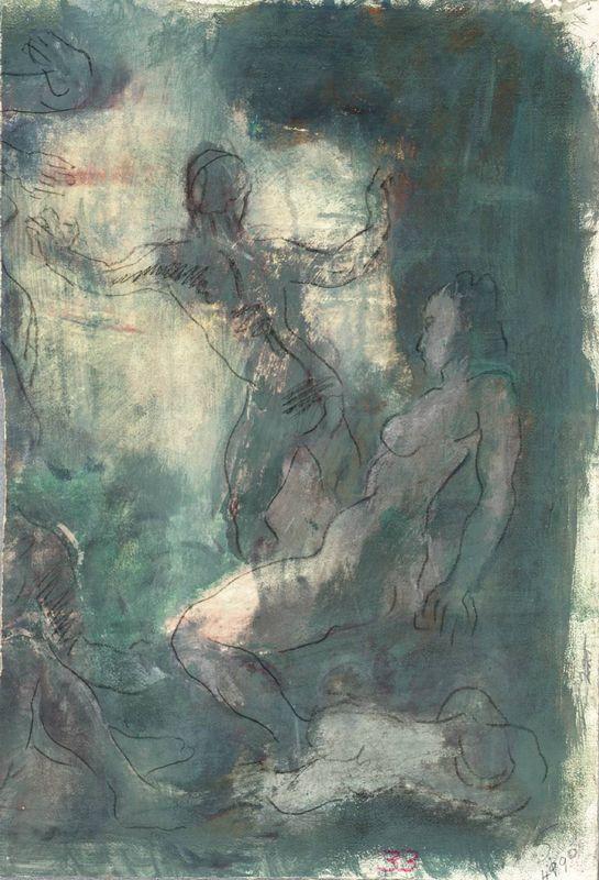Nude Figures in a Room - Alexandre Jacovleff