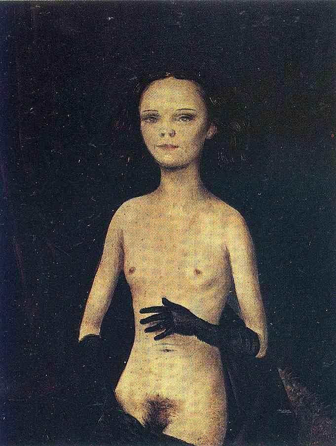 Nude Girl with Gloves - Otto Dix