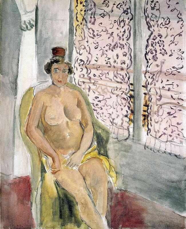 Nude In A Chair - Henri Matisse