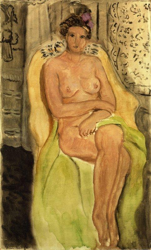 Nude in an Armchair, Legs Crossed - Henri Matisse