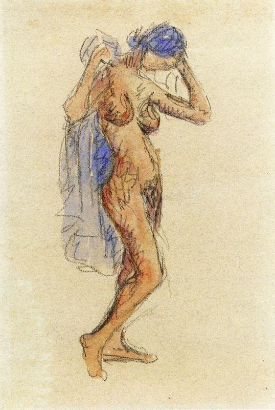 Nude Model with Drapery - Maurice Prendergast