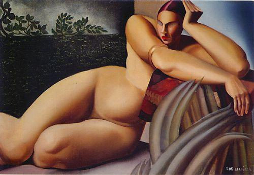 Nude on a Terrace - Tamara de Lempicka