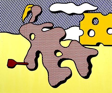 Nude on beach - Roy Lichtenstein