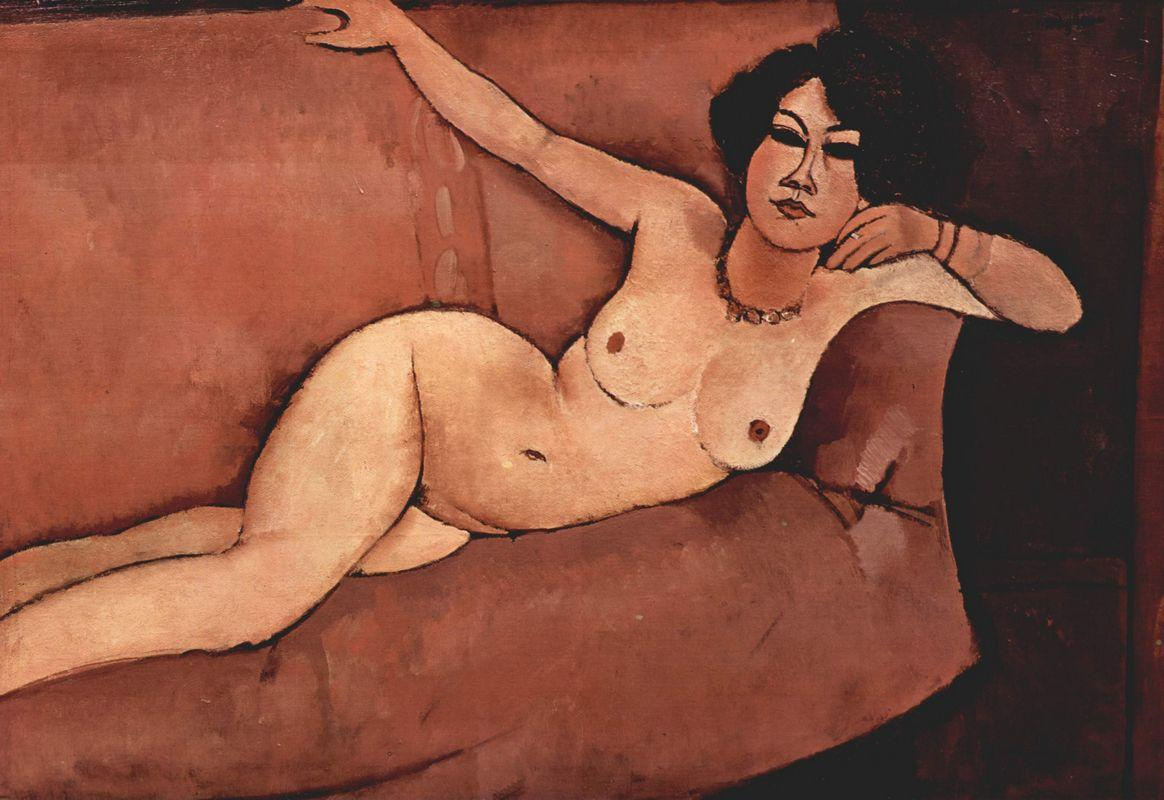 Nude on sofa (Almaisa) - Amedeo Modigliani