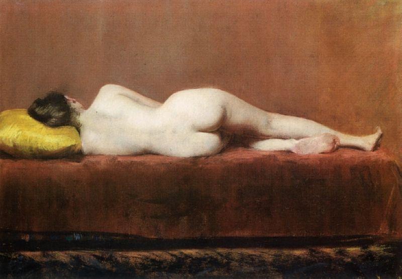 Nude Recumbent - William Merritt Chase