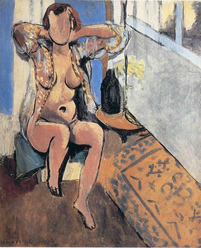 Nude, Spanish Carpet - Henri Matisse