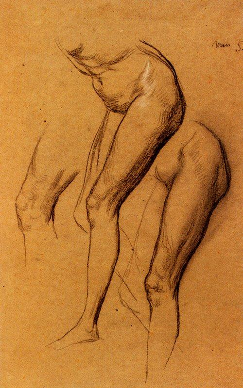Nude Studies Of Long Mary - George Frederick Watts