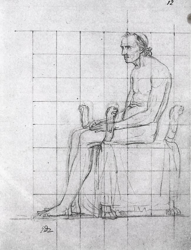 Nude study of Pope Pius VII - Jacques-Louis David