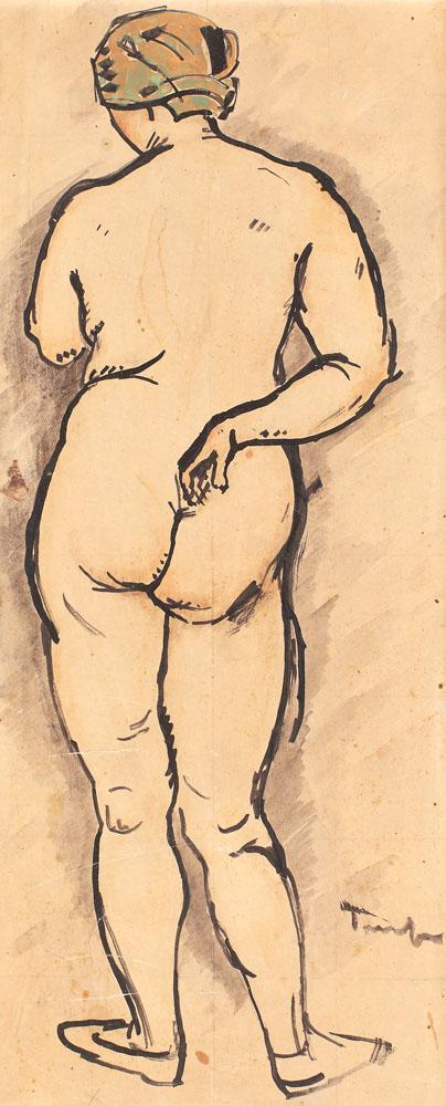 Nude with Headscarf - Nicolae Tonitza