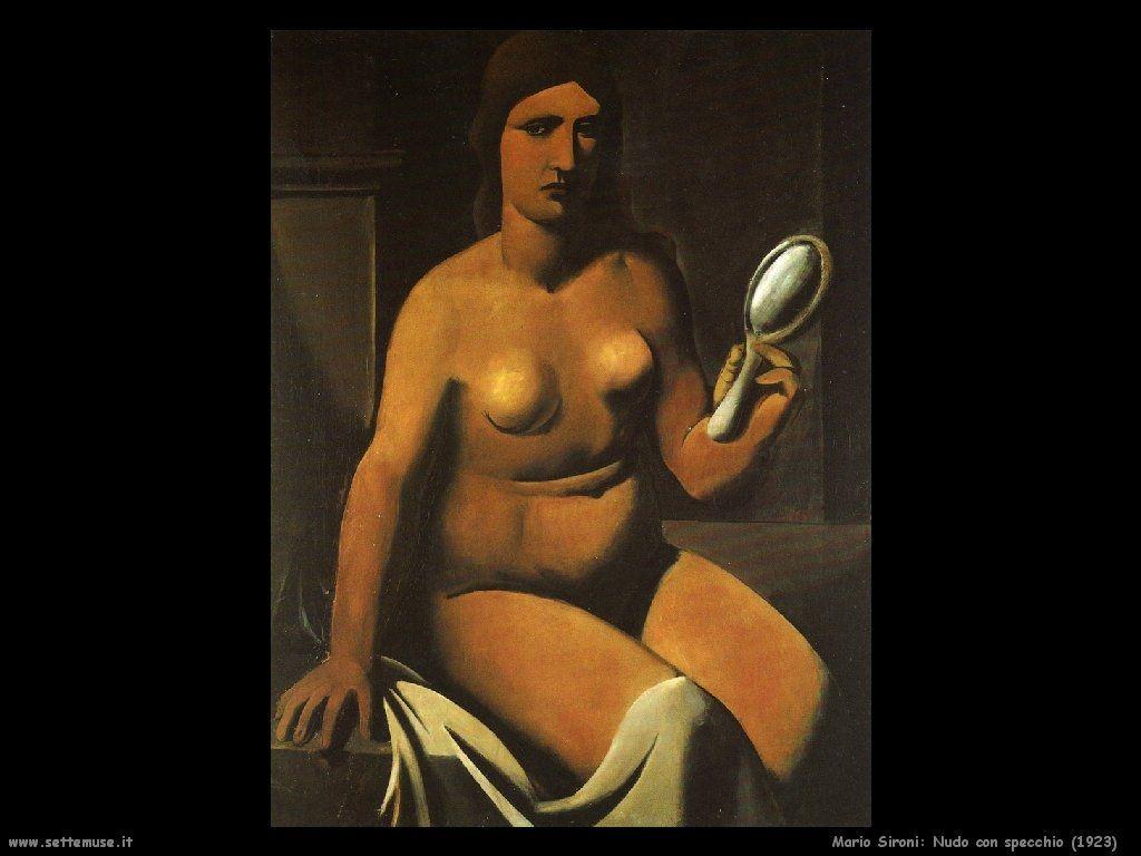 Nude with mirror - Mario Sironi