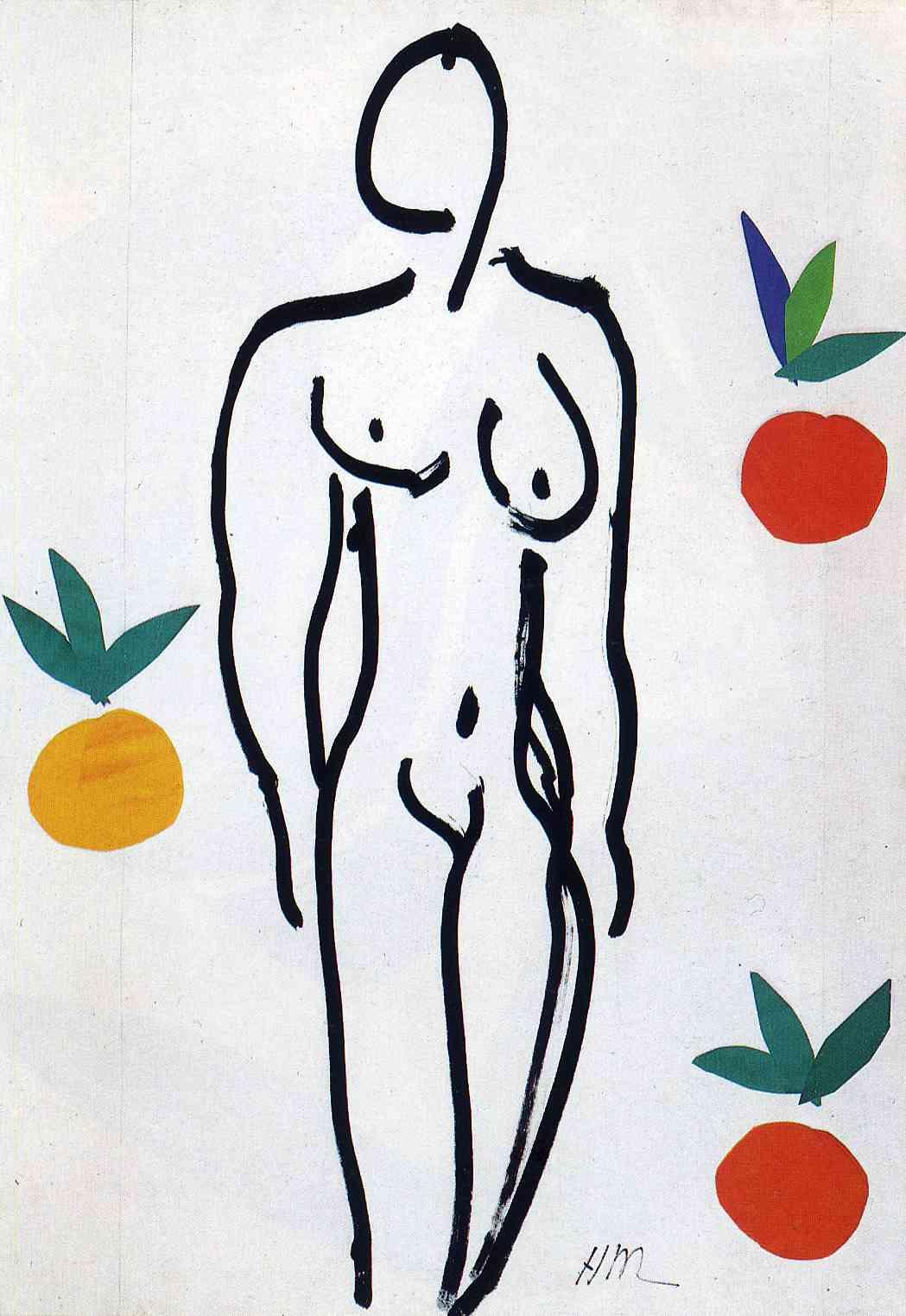 Nude with Oranges - Henri Matisse