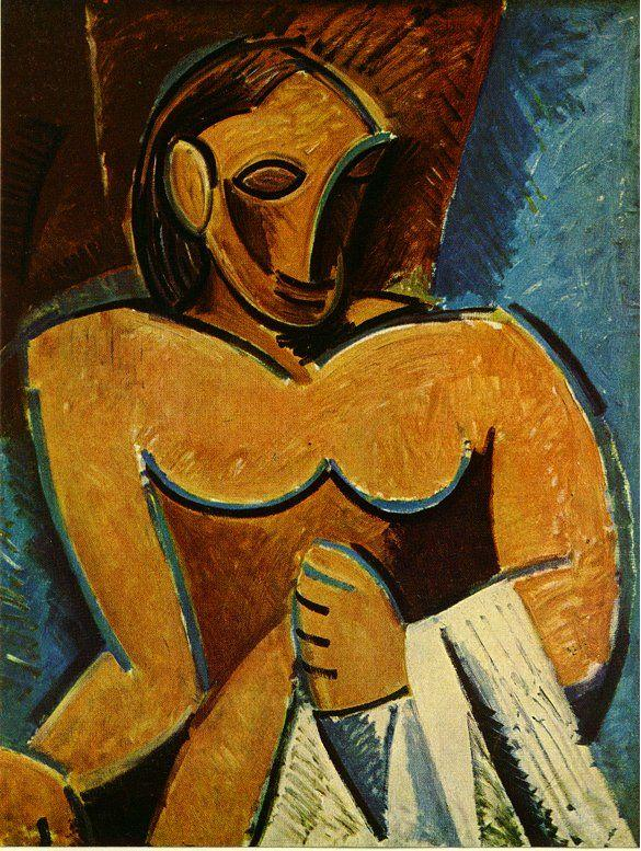 Nude with towel - Pablo Picasso