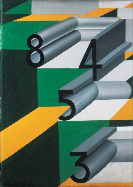 Numbers in Love - Giacomo Balla