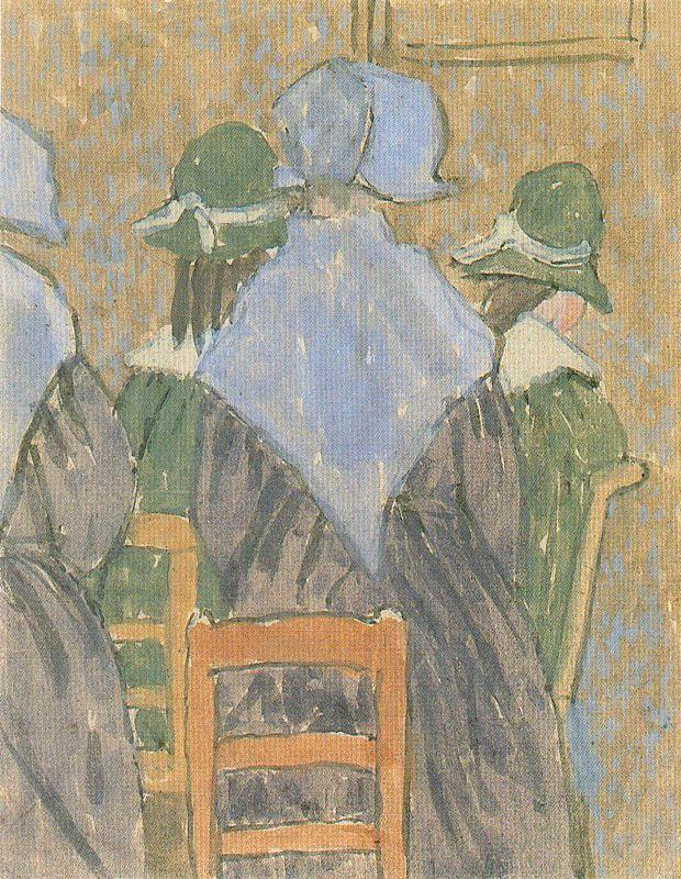 Nuns and schoolgirls standing in church - Gwen John
