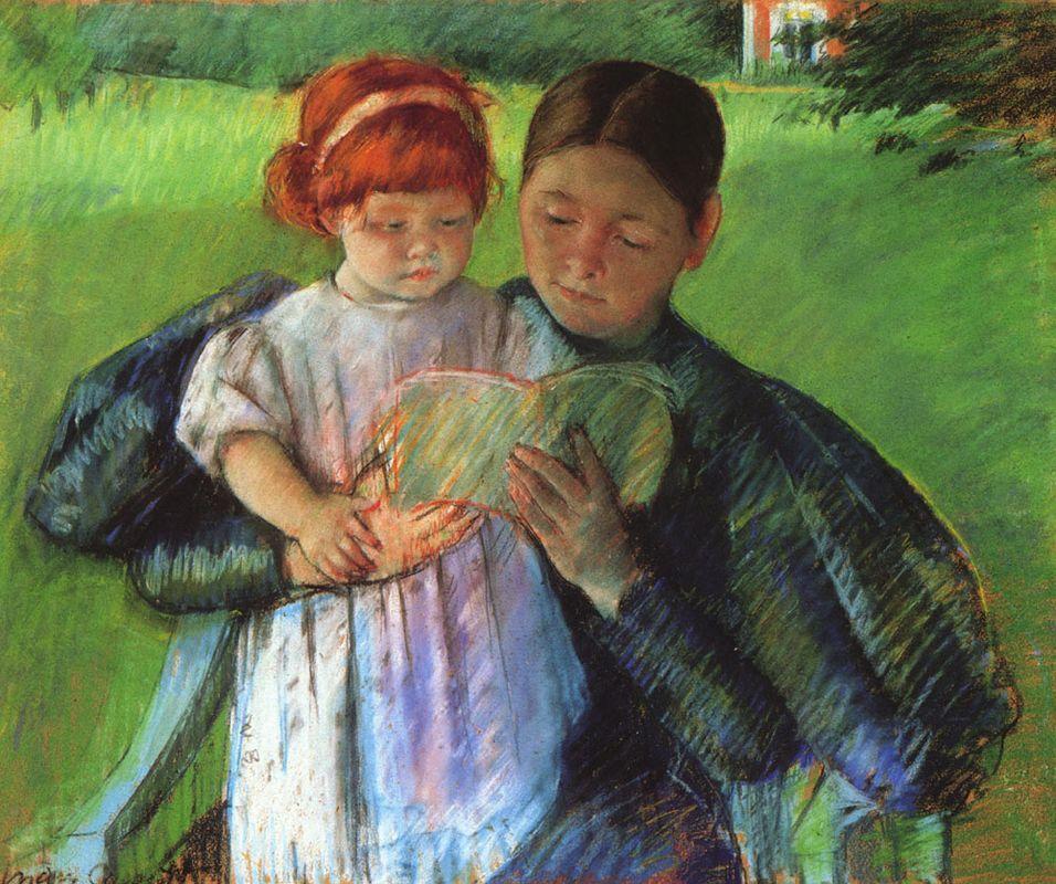 Nurse Reading to a Little Girl - Mary Cassatt