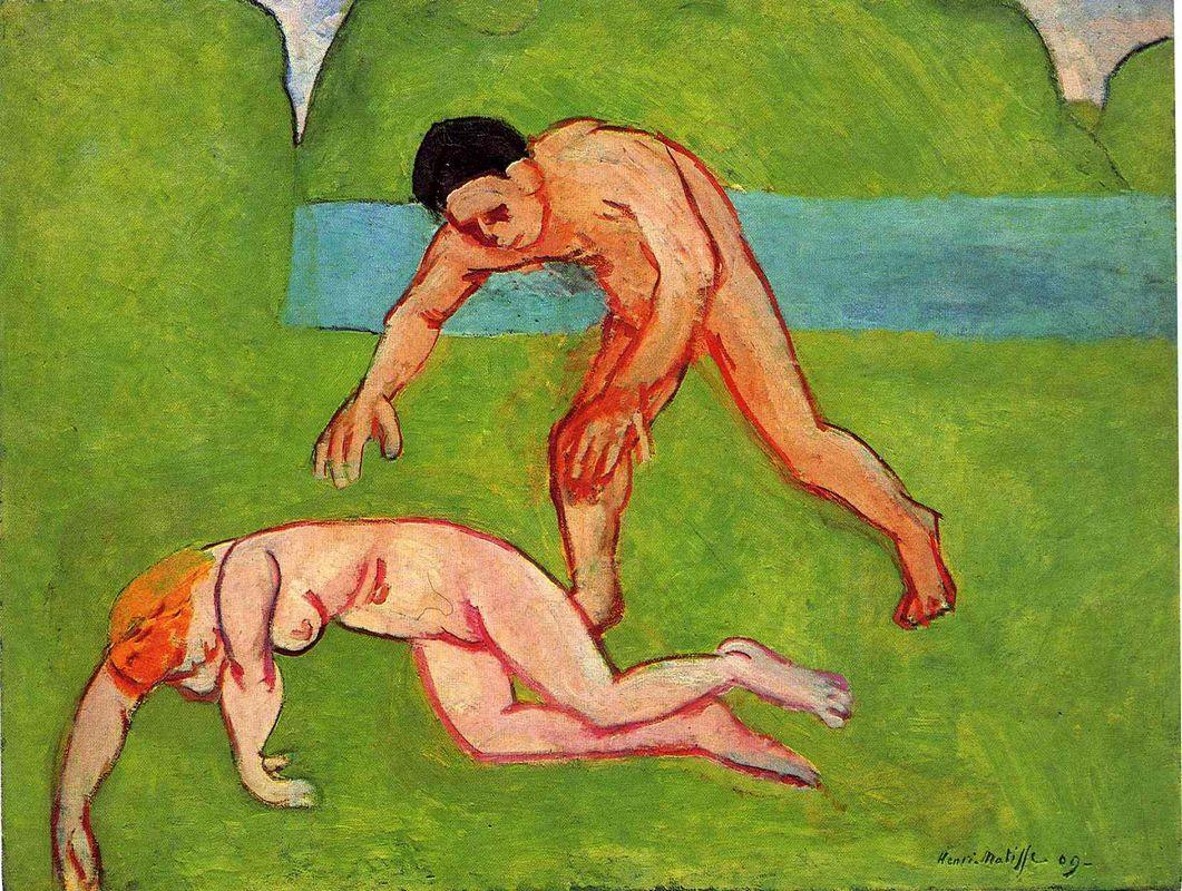 Nymph and Satyr  - Henri Matisse