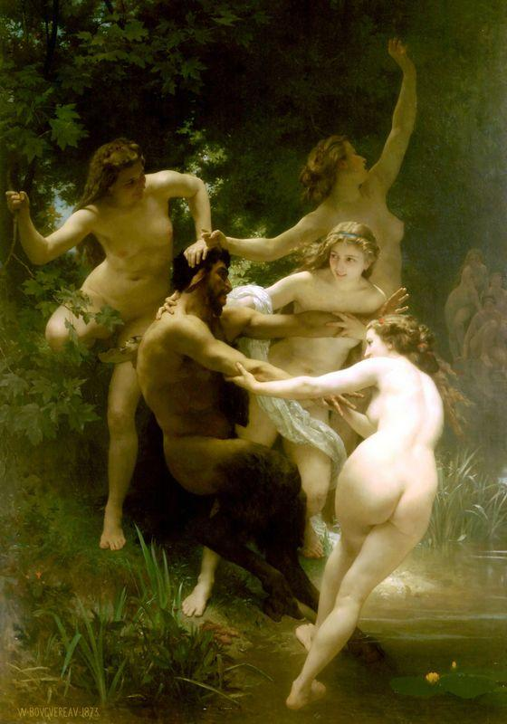 Nymphs and Satyr - William-Adolphe Bouguereau