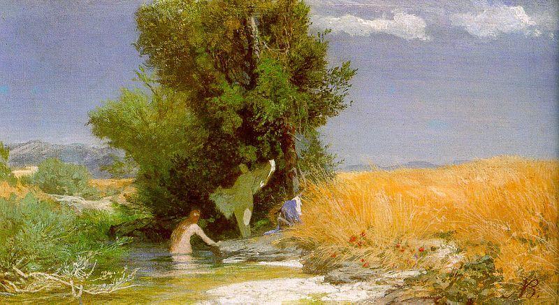 Nymphs bathing - Arnold Bocklin