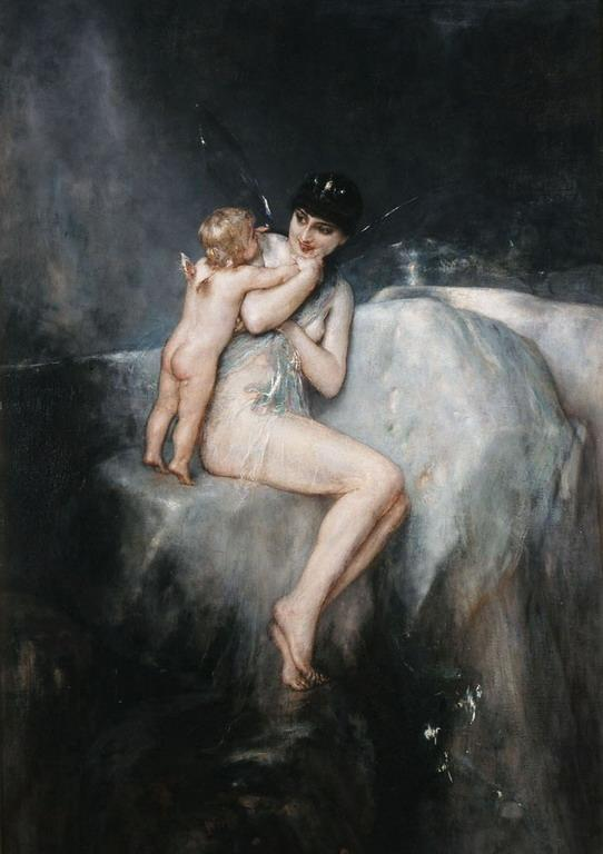 Nymth and Cupid  - Nikolaos Gyzis