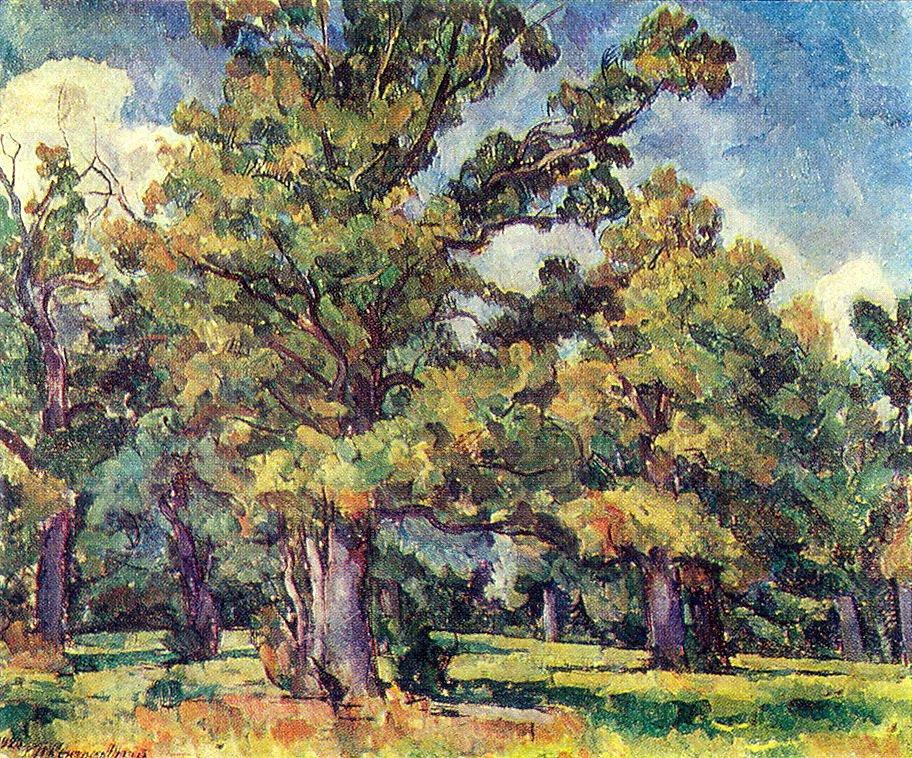 Oak Grove. Illuminated by the sun. - Pyotr Konchalovsky