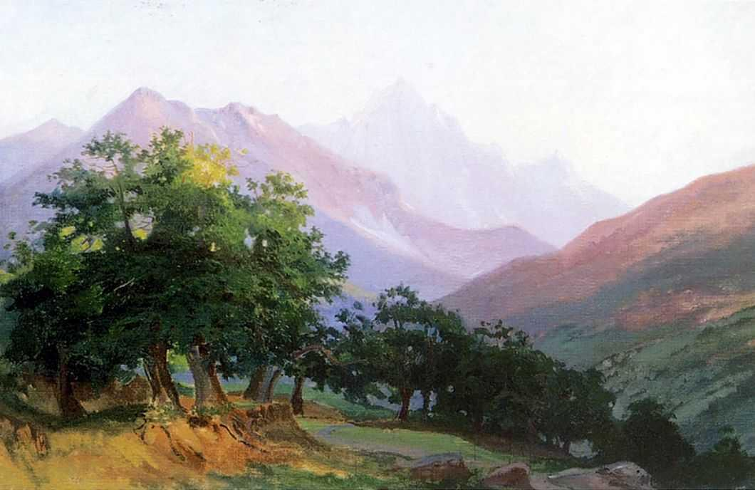 Oaks in the mountains of Carrara - Nikolai Ge