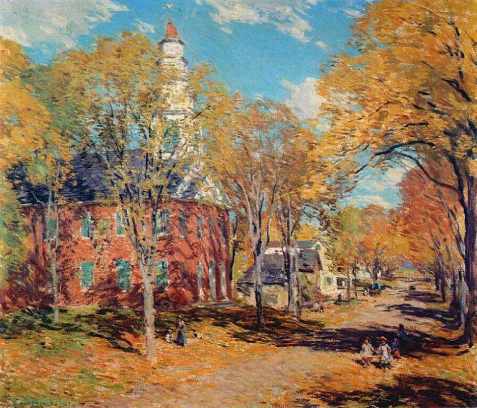 October Morning, Deerfield - Willard Metcalf