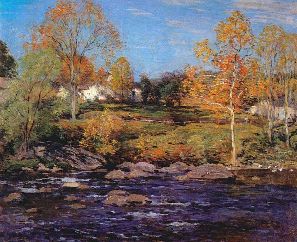October Morning (no 1) - Willard Metcalf