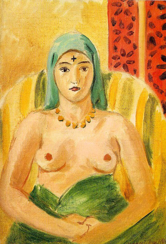 Odalisque, Half-Length (The Tatoo) - Henri Matisse