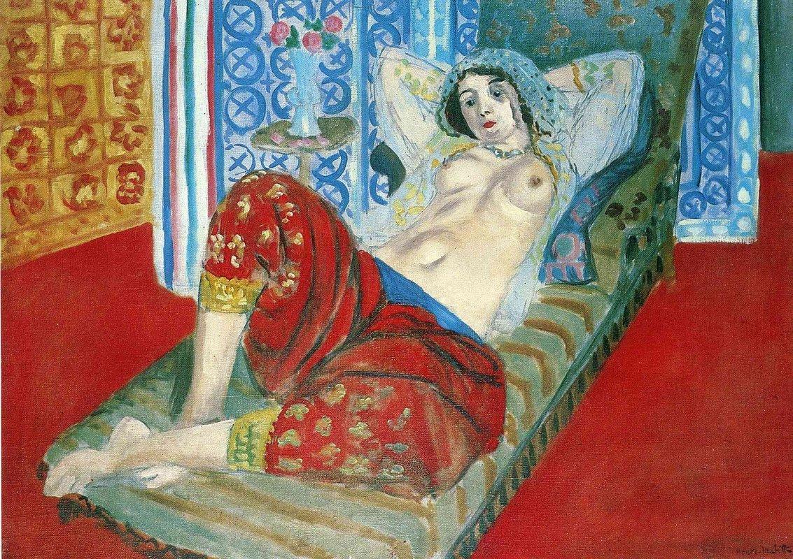 Odalisque in Red Culottes  - Henri Matisse