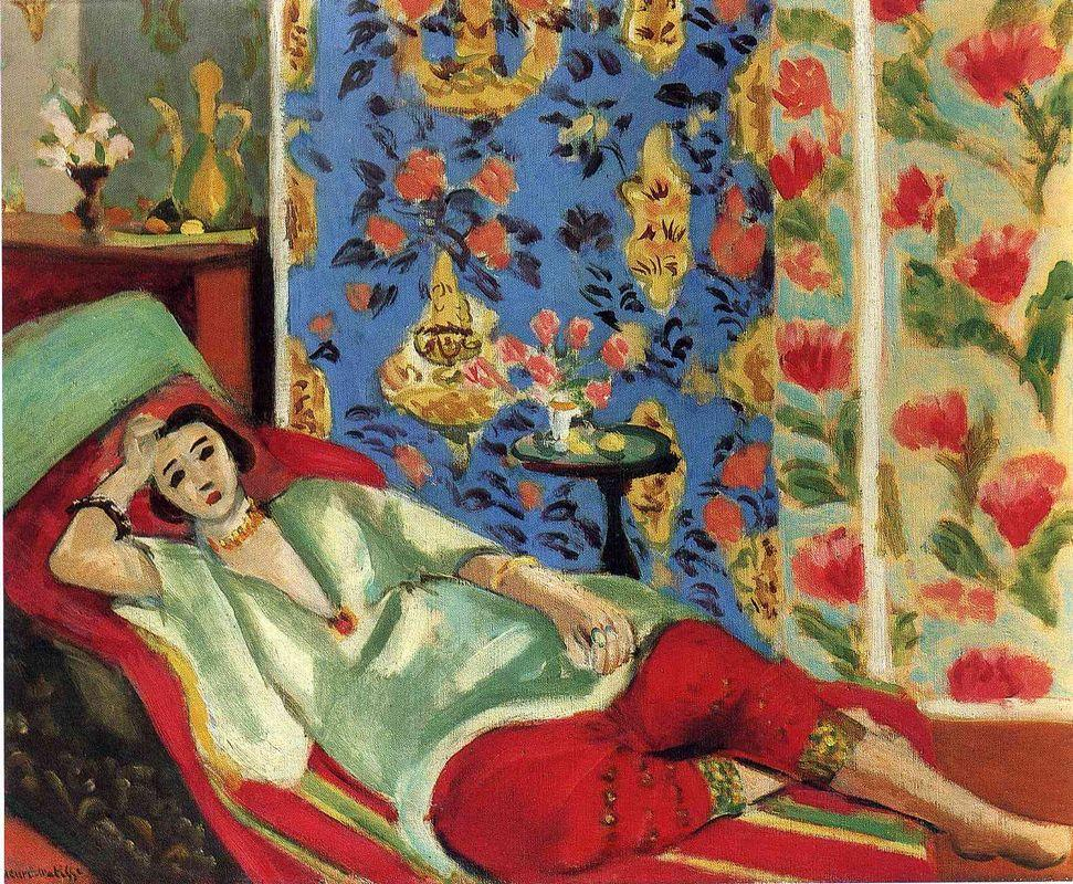 Odalisque in red trousers - Henri Matisse