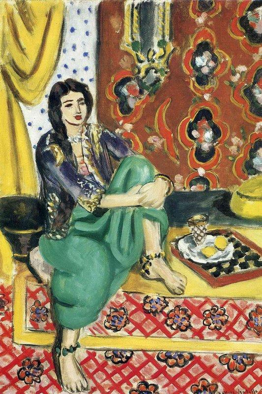Odalisque sitting with board - Henri Matisse