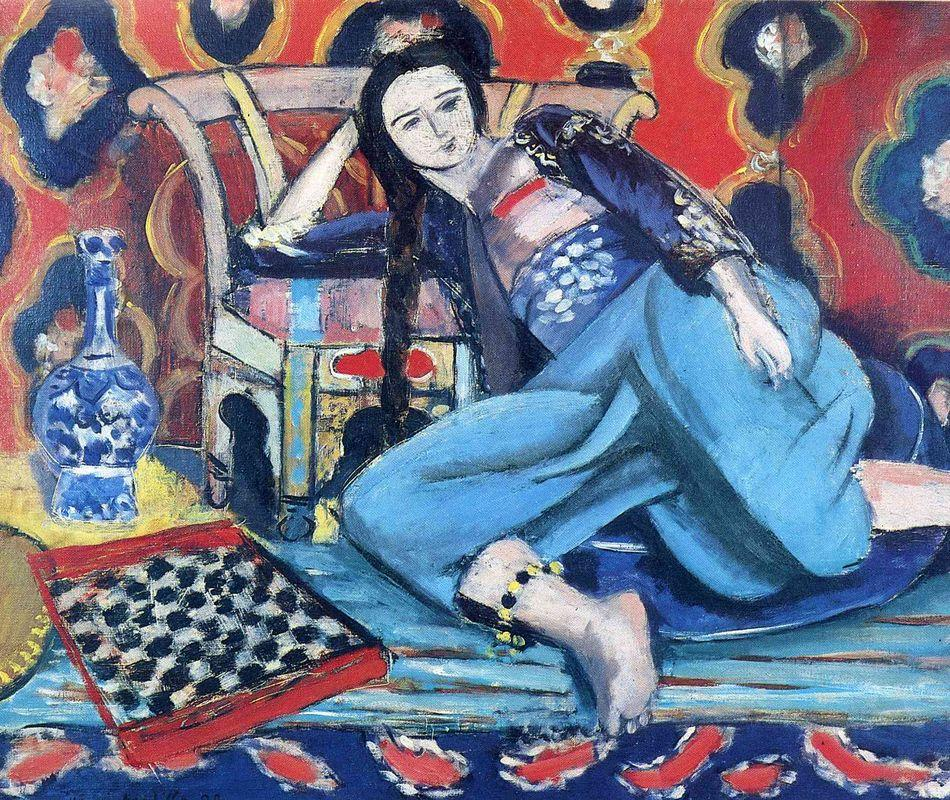 Odalisque with a Turkish Chair  - Henri Matisse