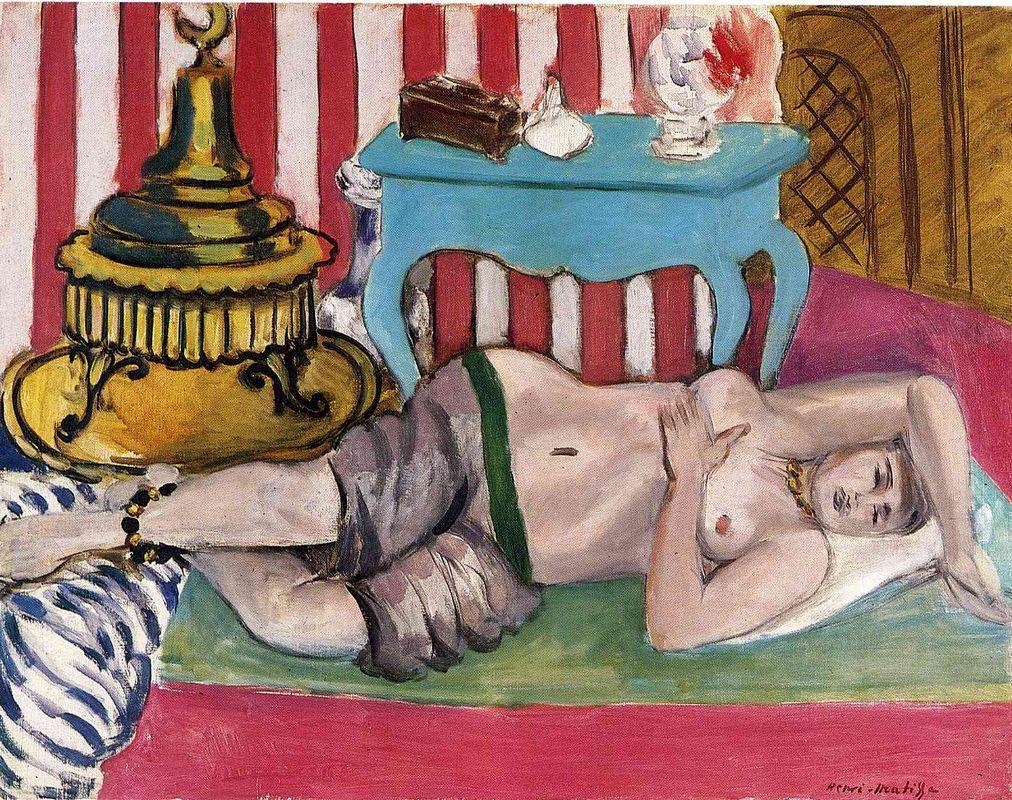 Odalisque with Green Scarf - Henri Matisse