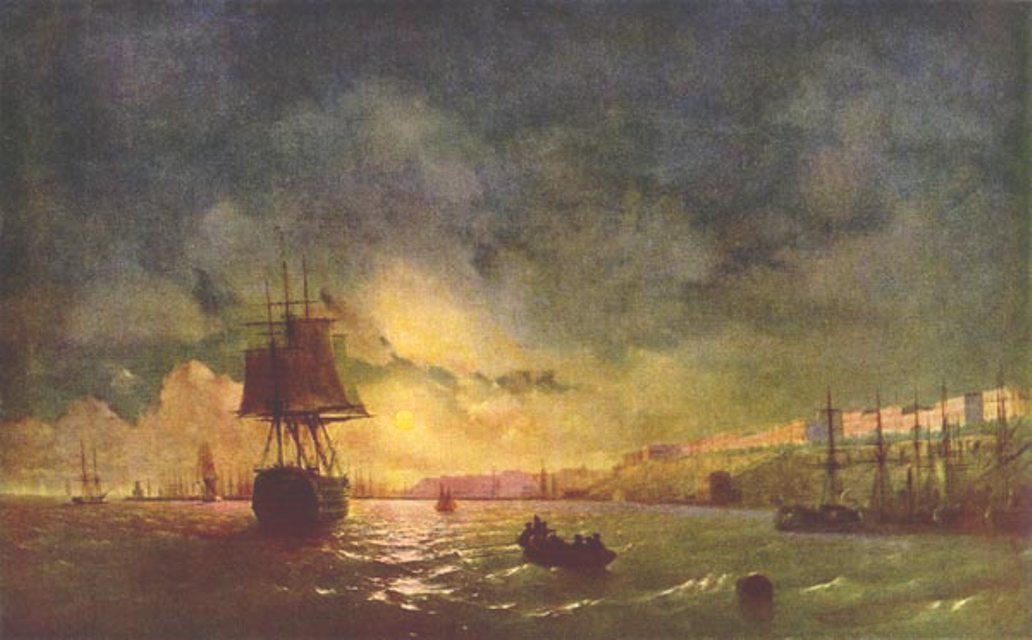 Odessa at night - Ivan Aivazovsky
