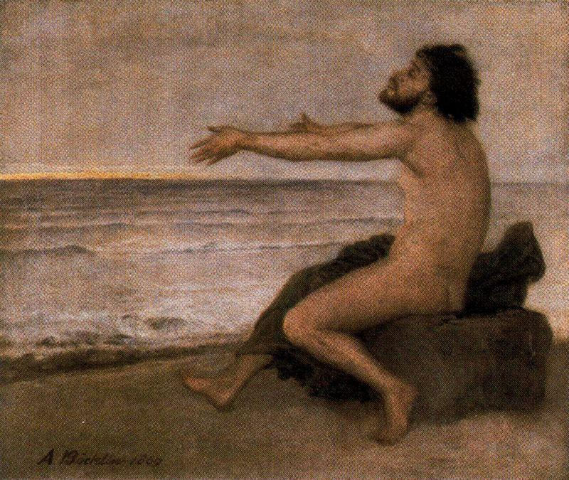 Odysseus by the sea - Arnold Bocklin