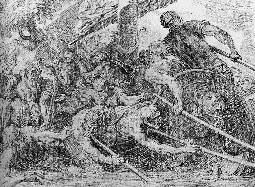 Odysseus Lands at Beach of Hades - Theodoor van Thulden