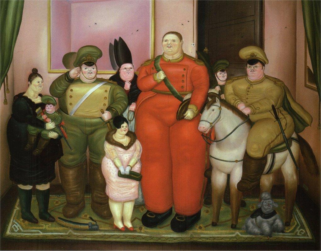 Official Portrait of the Military Junta - Fernando Botero