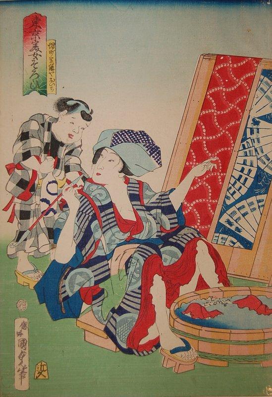 Oichi from the Beauties of Tokyo series - Utagawa Kunisada II